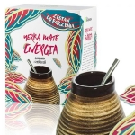 Yerba Mate Guarana i Żeń Szeń + zestaw do parzenia Intenson, 150g