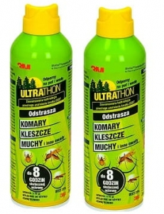 ULTRATHON SPRAY DEET 25%  środek na komary, 2 x 177ml
