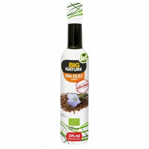 Olej lniany Big Nature, 375 ml Bio