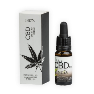 Olejek konopny CBD 10% 1100mg INDIA, 10 ml