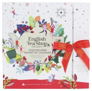 Kalendarz Adwentowy White Book English Tea Shop, 25 Piramidek