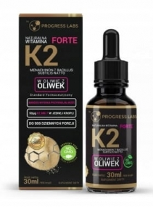 Witamina K2 MK-7 Z Natto Forte 900kropli Progress labs, 30ml