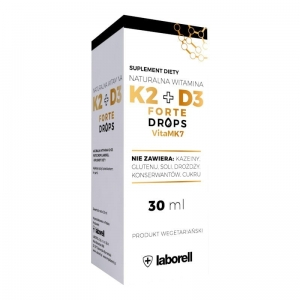 Naturalna Witamina K2 + D3 forte Laborell, 30 ml