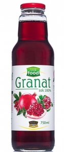 Sok z granatu 100% granat Look Food, 750 ml