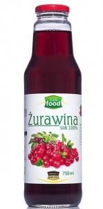 Sok z żurawiny żurawina Look Food, 750 ml