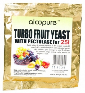 Drożdże Turbo Fruit na 25L ALCOPURE, 40g