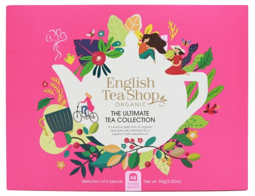 Zestaw herbat prezentowych The Ultimate Tea Collection English Tea Shop, 48 saszetek. Opakowanie EKO- sanvital.pl