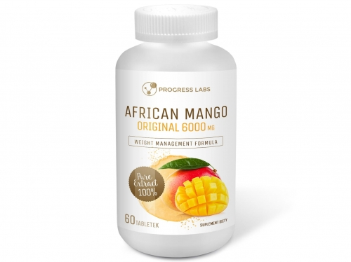 African Mango Orginal 6000mg Progress Labs, 60 tabletek - sanvital.pl